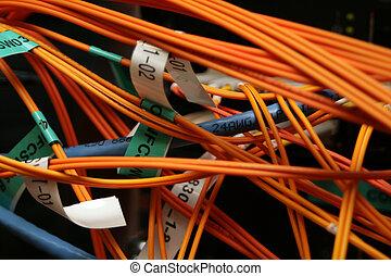 fibre, câbles, optique, cat6