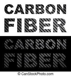 fibre, clipart, carbone