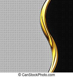 fibre, frame., or, courbe, noir, carbone, blanc, chrome