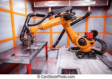 Fibre laser robotic remote cutting system. CNC Laser plasma...