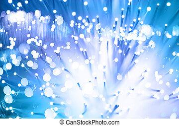 fibre, lotissements, lumière, taches, fond, optique