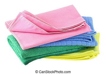 fibre, micro, tissu, nettoyage