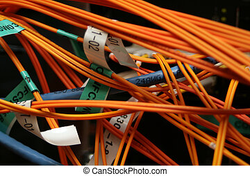 Fibre optic and CAT6 cables