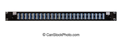 Fibre Optic Network Patch Panel With 48 High Density LC...