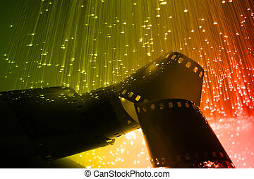Fibre Optical - Fiber optics background with lots of light...
