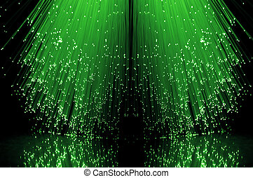 Fibre optical green cascade.