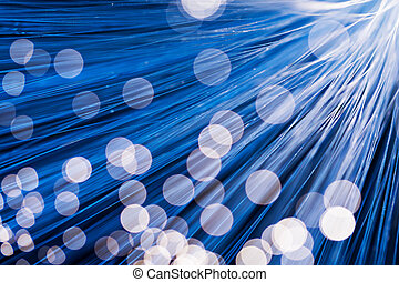 Fibre optical in blue