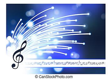fibre optique, résumé, note, fond, musical