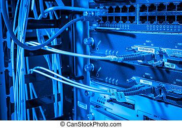 fibre, serveur réseau