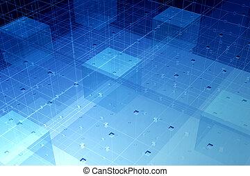 fibre, technologie, transparent