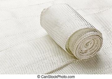 fibre verre, tissu, bande