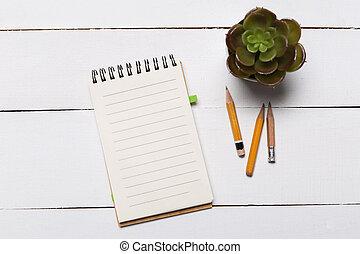 ficar, apartamento, modelo, lay., cobertura, página, livro, madeira, fundo, em branco, frente, branca, lado