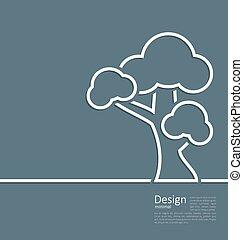 ficar, estilo, esquema, webpage, árvore, símbolo, desenho, modelo, sozinha, logotipo, incorporado