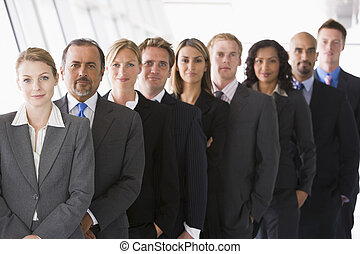 ficar, grupo, espaço escritório, (high, key/depth, field),...