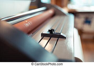 ficar, máquina, escritório imprimindo
