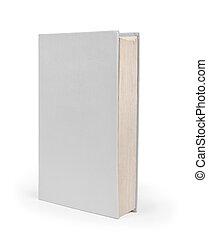 ficar, vertical, cobertura, superfície, páginas, livro, perspectiva, modelo, em branco, frente, branca, vista lateral