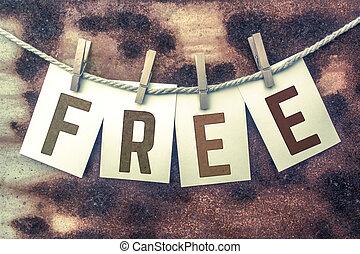 ficelle, concept, affranchi, gratuite, goupillé, thème, ...