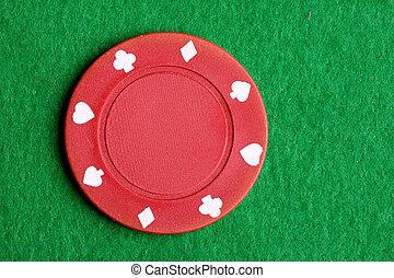 fichade póquer, rojo
