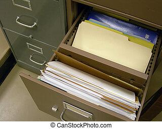 fichier ouvert, cabinet