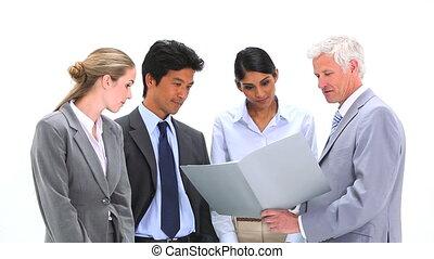 fichier, sien, projection, employés, patron