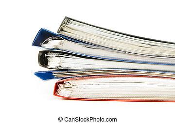 fichiers, coloré, bureau