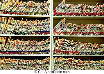 fichiers, monde médical