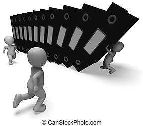 fichiers, organiser, projection, organisé, archives