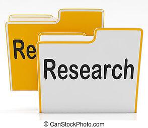 fichiers, représente, rassemblement, étude, recherche, données