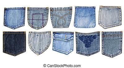 fickor, jeans