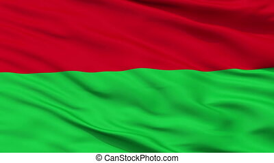 Fictitious Ottoman Flag Closeup Seamless Loop - Fictitious...