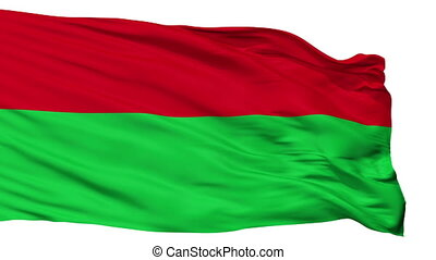 Fictitious Ottoman Flag Isolated Seamless Loop - Fictitious...