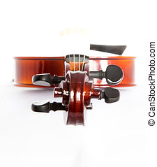 fingerboard - fiddle fingerboard isolated on white