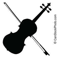 fiddle, silhouette