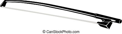 Fiddlestick for Violin. Vector illustration. Isolated object on a white background.