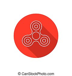 Fidget Spinner - 3 pronged hand toy spun by its center -...