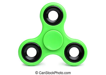 Fidget spinner on white background