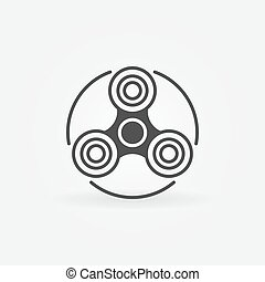 Fidget spinner simple icon