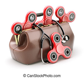 Fidget spinners for anti stress therapy in the doctor bag -...