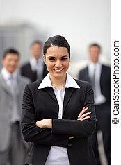 fiducioso, donna d'affari