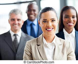 fiducioso, gruppo, persone affari