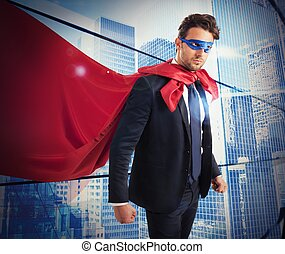 fiducioso, lavoratore, superhero