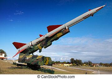 fiel, arma, cuba., caribe, havana., (cuban, morro-, misil,...
