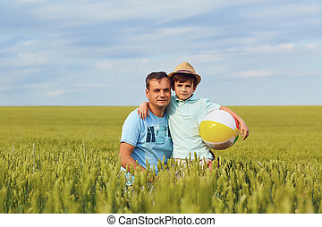 field., 父, 遊び, 息子
