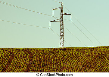 field and pole tower
