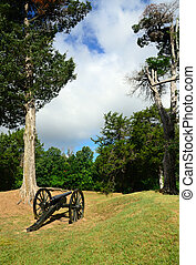Field Artillery - Cannons are displayed on the Vicksburg...