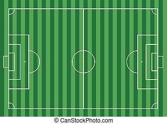 field., calcio, erba, football verde