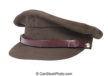 field cap isolated on white background
