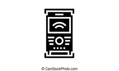 field controller animated glyph icon. field controller sign. isolated on white background