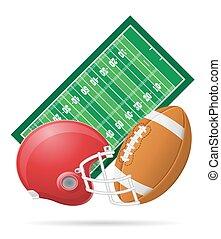 field for american football vector illustration