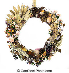 Field, Forest and Ocean Harvest Wreath - A natural twig...